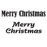 Woodware - Merry Christmas - Clear Magic Just Words Tiddler - JWS026