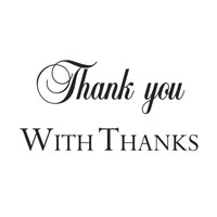 Woodware - Thank You - Clear Magic Just Words Tiddler - JWS017