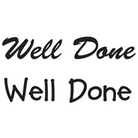 Woodware - Well Done - Clear Magic Just Words Tiddler  - JWS008